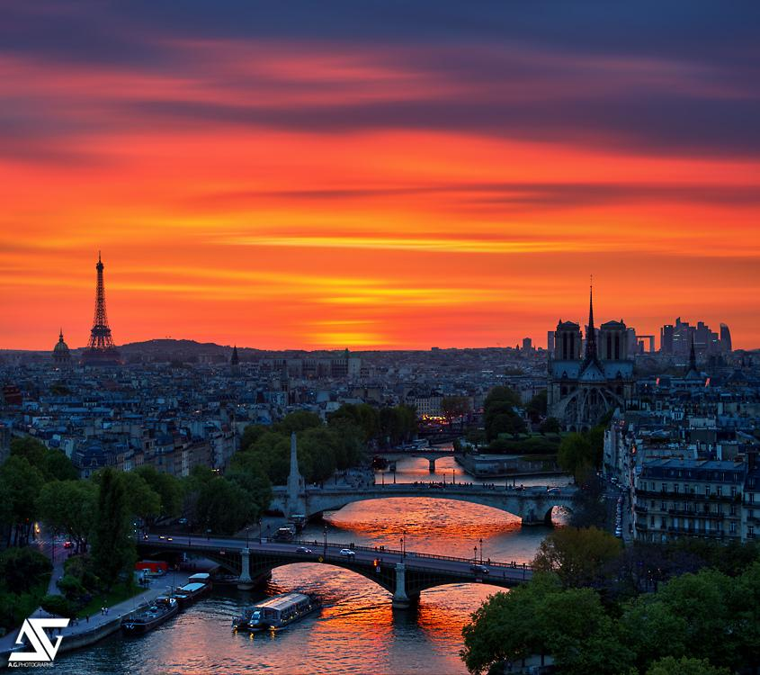 orange skies and stunning architecture in paris photography by a g photographe manlio. Black Bedroom Furniture Sets. Home Design Ideas