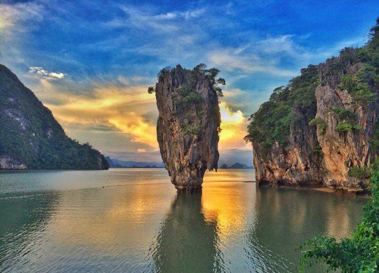 khao phing kan or james bond island in phuket thailand