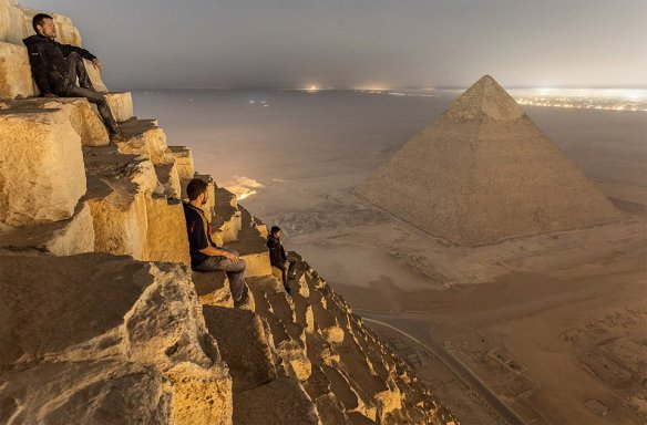 Sitting On The Pyramid, Egypt | Photography by ©Simon Vorkston