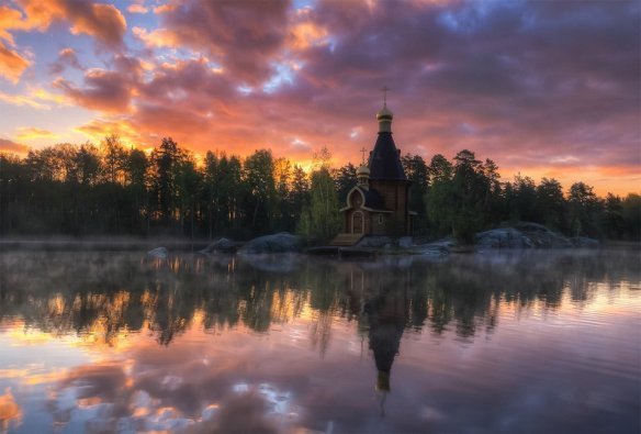 Small Church At Vuoksi River, Russia | Photography by ©Andrew Korochkin