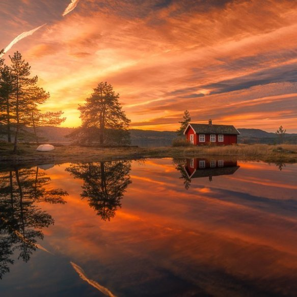 sunset-in-ringerike-norway-photography-by-ole-henrik-skjelstad