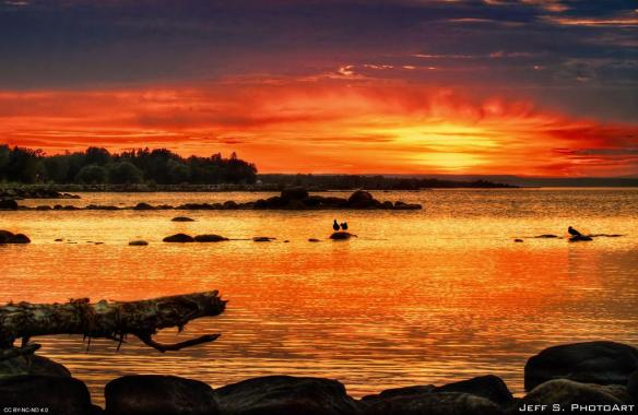 red-sunset-on-the-shore-of-nottawasaga-bay-photography-by-jeff-s-photoart