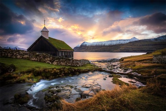 Sunrise Over Church On The Faroe Islands | Photography by ©Marc Perrella.jpg