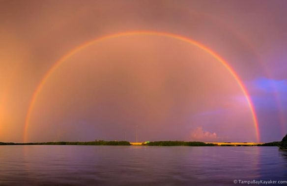 Double rainbow trouble in Tampa, Florida | Photography by ©Ronald Kotinsky