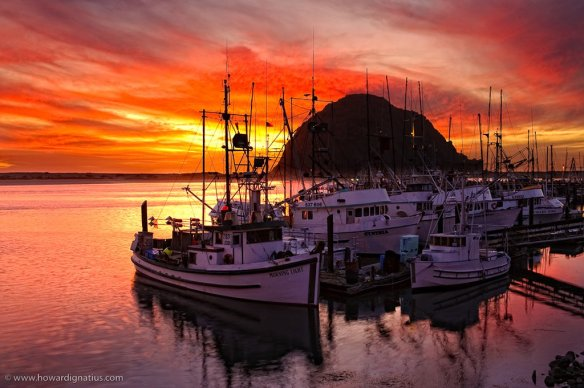 Morro Bay Sunset, Harbor View | Photography by ©@howardignatius