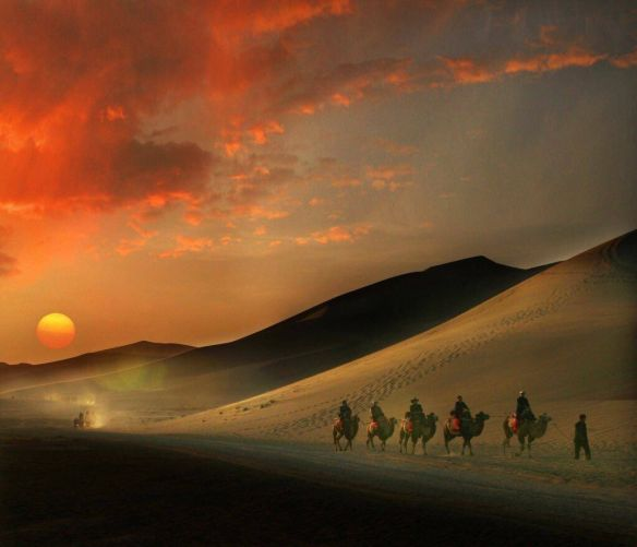 Crossing Gobi desert, Mongolia | #Photography by ©Weng Lianfen