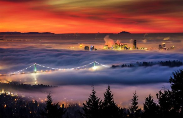 Downtown Vancouver Under Blanket Of Fog | Photography by ©Alexis Birkill